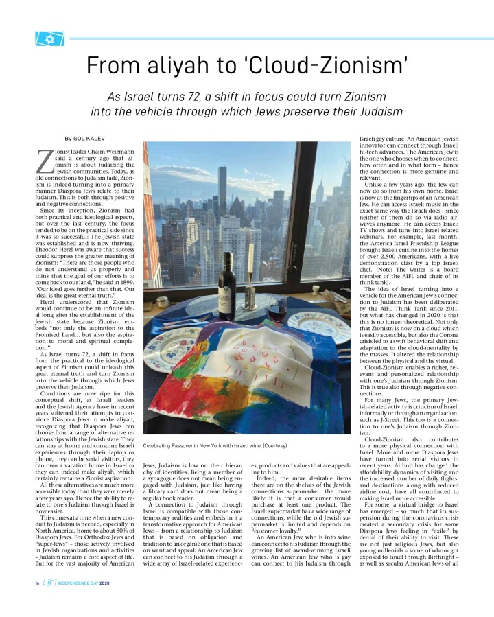 Jpost Cloud Zionism